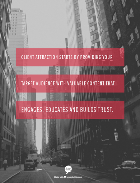 Attract Clients The Easy Way